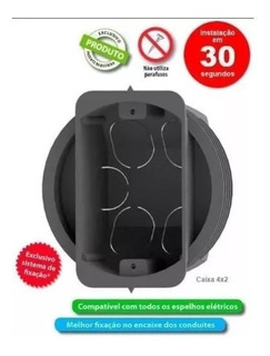 Caixa De Luz 4x2 P/ Bloco Estrutural - Pacote C/ 30 Unidades