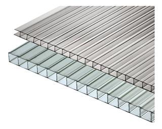 Policarbonato Alveolar 6mm 5,80x2,10 Cristal Capital Federal