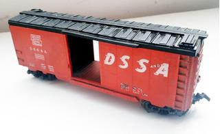 Vagón Ferrocarril Lionel D S S A Esc Ho - 150x33x58 Mm - C W