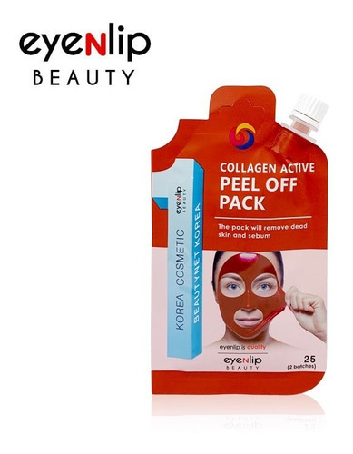 Imagen 1 de 1 de Mascarillas Peel Off Pack Eyenlip Collagen Active Coreana