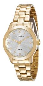 Relógio Mondaine Feminino Clássico Dourado 78689lpmvda1