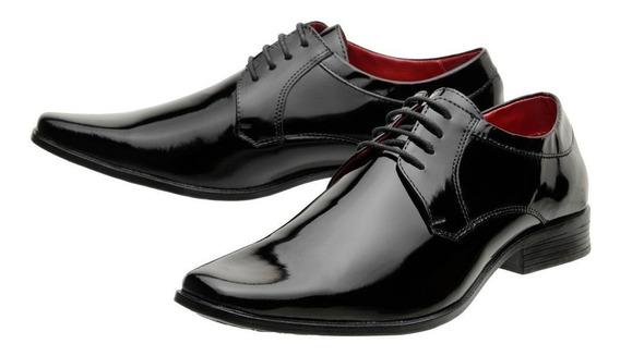 Sapato Social Masculino Solado Borracha Verniz 4710a24