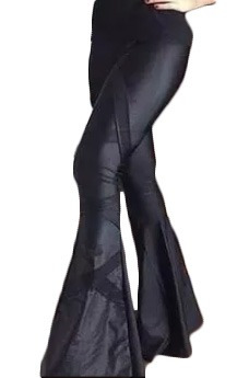 Calça Super Flare Legging Disco Hot Pants Em Cirre C19