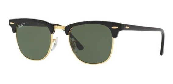 Oculos Sol Ray Ban Clubmaster Rb3016 901/58 51mm Polarizado