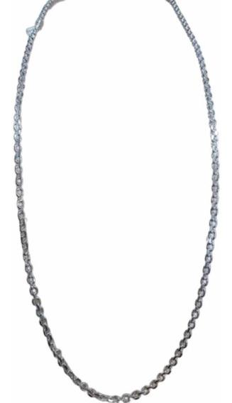 Corrente Cordão Cartier Cadeado 3mm Prata 925 Maciça