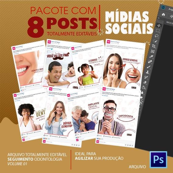 Post Para Redes Sociais Editável - Odontologia - Vol. 01