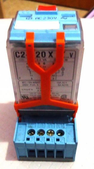 Relé Releco 220 V 10 A - - C2- A 20x Com Base