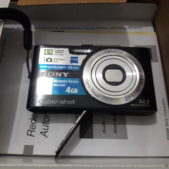 Câmera Sony Dsc-w320 Usada (tampa Da Bateria Quebrada)