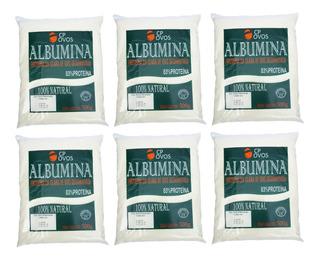 6x Albumina Cp Ovos (500g Cada) Proteína Em Pó