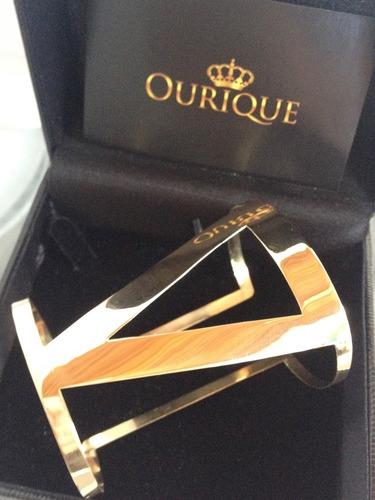 Pulseira Feminina Em Ouro 18k 750 Modelo Bracelete Luxo