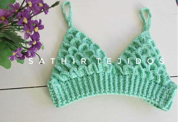 Crop Top Con Hilo De Algodón Al Crochet