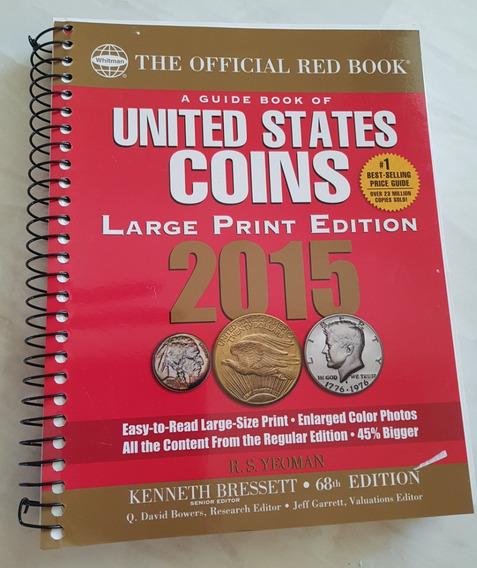 Livro Em Inglês Moedas United States Coins 2015 Red Book Lar