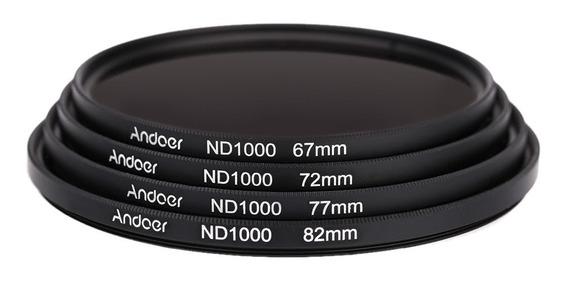 Andoer 67mm Nd1000 Stop 10 Fader Filtro De