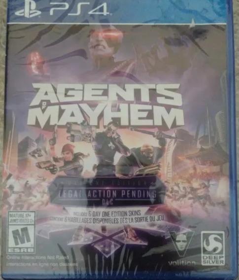 Agents Of Mayhem Ps4 Mídia Física Game Original E Lacrado