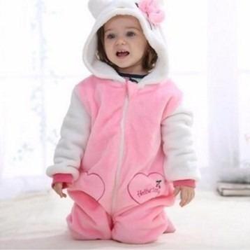 Macacão Bebê Microfibra Hello Kitty Importado Pronta Entrega