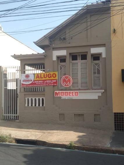 Casa Com 3 Dormitórios Para Alugar, 100 M² Por R$ 850/mês - Alto - Piracicaba/sp - Ca2811