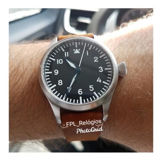 Relógio Tisell Pilot Type A Automático Miyota 9015 Impecável