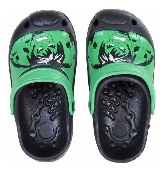 Suecos De Goma Marvel Verde Hulk Agua 2019 Fty Calzados