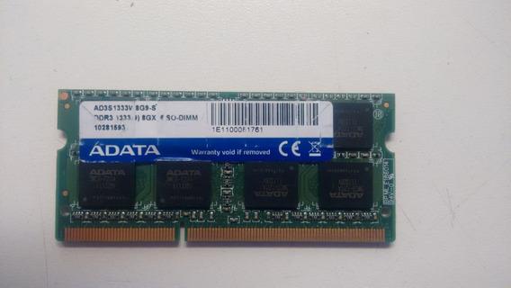 Ad3s1333w8g9-s Memoria Adata 8gb Ddr3 Pc3-10600 1333mhz