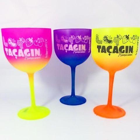 100 Taças Gin Degradês Multicolor 550 Ml Personalizadas