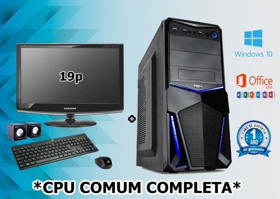 Cpu Completa Core2duo 2gb Ddr3 Hd 500gb Dvd Wifi Nova