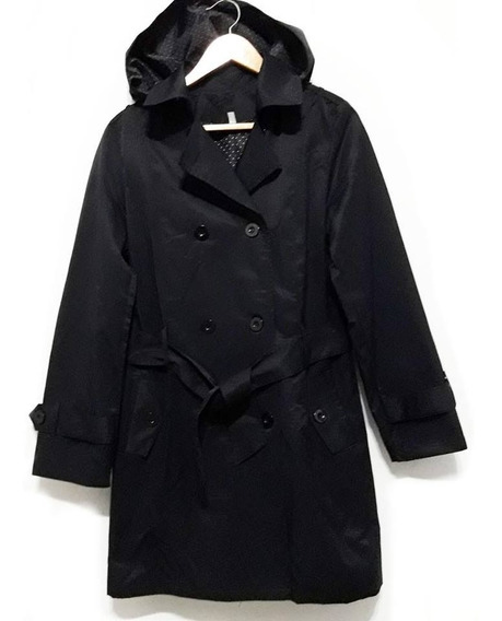 Piloto Mujer Impermeable Trench Con Capucha Talles Grandes