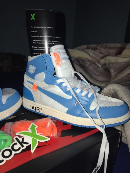 Tenis Nike Air Jordan Off White Azul Sob Encomenda