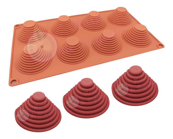 Molde De Silicona X8 Cono Piramide 6 Cm X 3cm Chocolate