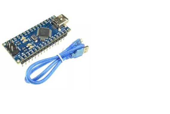 Arduino Nano V3 Atmega328p Ch340 Com Cabo Mini Usb