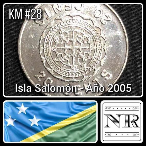 Islas Salomon - 20 Cents - Año 2005 - Km # 28 - Malaita