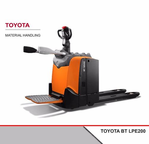 Transpaleta Eléctrica Toyota Bt Lpe200 + Batería + Cargador