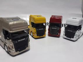 Miniatura Caminhão Scania Trucado Welly Escala 1.64 (unidad