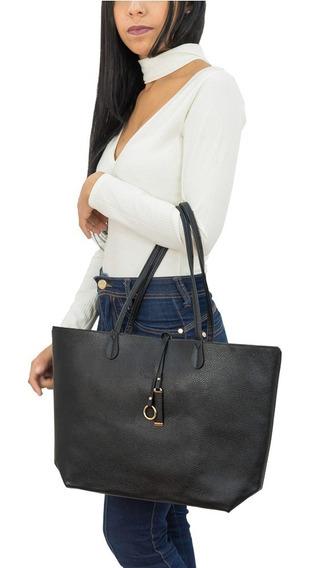 Kit Bolsa Feminina Shopper Preta E Vermelho Oumai