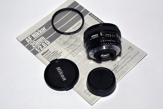 Objetiva Af Nikor 20 Mm F/ 2.8 D Com Filtro