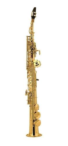 Saxofon Soprano Si Bemol Laqueado Curvo O Recto Con Estuche