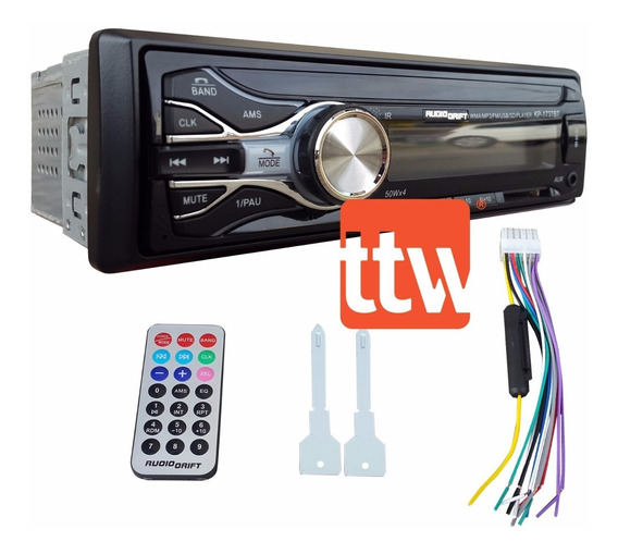 Stereo Audiodrift Wma Mp3 Am Fm Usb Sd Bluetooth 50 W X4 P-i