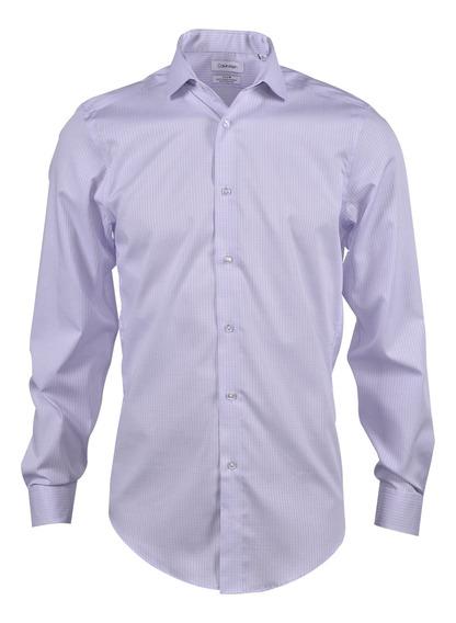 Camisa Calvin Klein Caballero Lila 17k4318-520