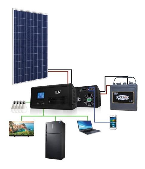 Kit Solar Hogar (perfil De Consumo Para 24 Hs. De Rendimient