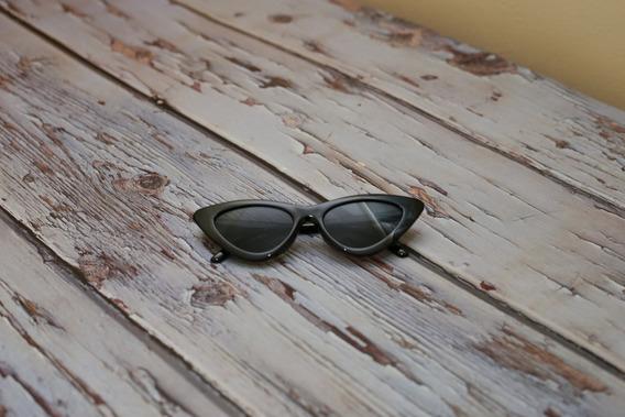 Óculos De Sol Cat Eye Gatinho Pequeno Retro Vintage Moda 2pç