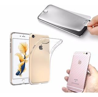 Capa Ultrafina iPhone 7 Plus + 2 Películas Gel + Skin Fibra