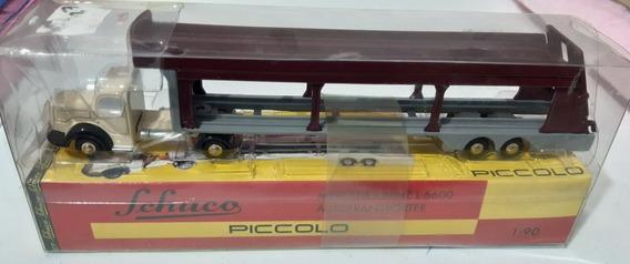 1:90 01941 Schuco Piccolo 761 Mb L6600 Autotransporter
