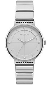 Relógio Euro Prata Strass Eu2035yoc/3k