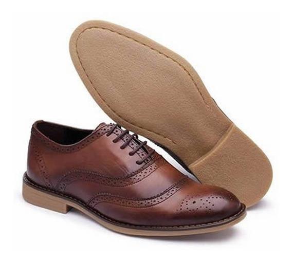 Sapato Social Casual Masculino Couro !