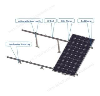 Kit Soporte Techo Plano Para 4 Paneles Solares 250w A 370w