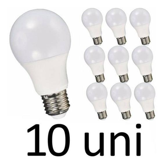 Kit 10 Lampada Led Luz Quente Amarela 7w E27 Bivolt