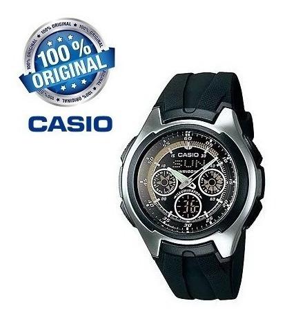 Relógio De Pulso Anadigi Casio Active Dial Aq - 163w-1b1jf