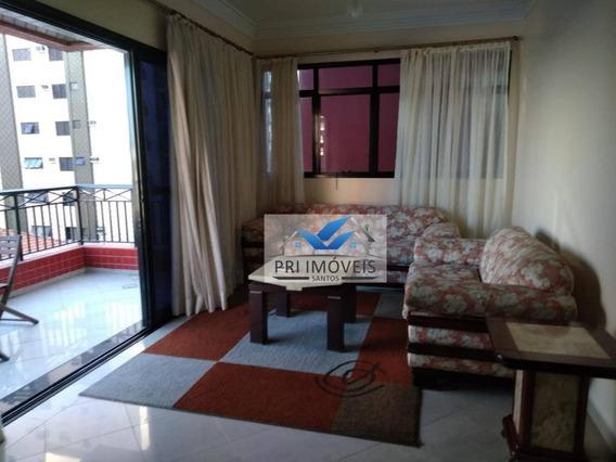 Apartamento Para Alugar, 200 M² Por R$ 6.000,00/mês - Aparecida - Santos/sp - Ap0671