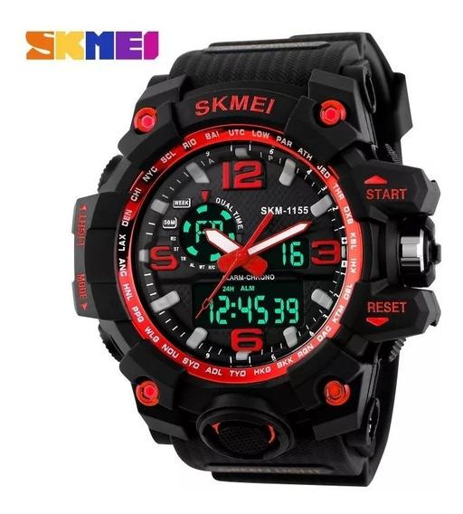 Kit 2 Relógios Skmei (vermelho E Dourado)