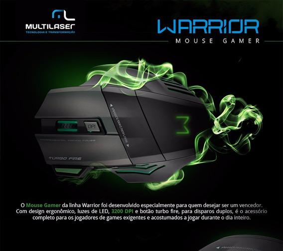 Mouse Multilaser Gamer Profissional Warrior 7 Botões 3200