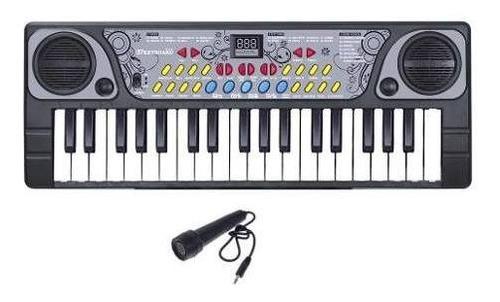 Piano Teclado Infantil Microfone Cantar Brinquedo Musical